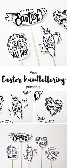 Free Easter and spring handlettering printable via www.luloveshandmade.com