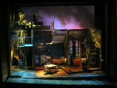 """The """"Streetcar Named Desire"""" set design shows the beginning of the deviance from realism. The difference shades of light reflect a mood to the audience that is different from reality. Design Set, Stage Set Design, Set Design Theatre, Design Model, Blitz Design, Desing Inspiration, Theater, Streetcar Named Desire, Scenic Design"""