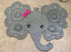 A personal favorite from my Etsy shop https://www.etsy.com/listing/453215720/josephine-elephant-rug-custom-order