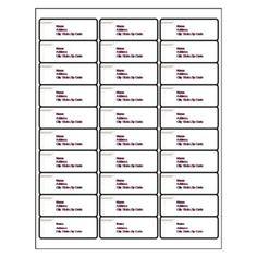 Avery 30 per Page | Address Label Template 30 per Sheet | 2015 ...