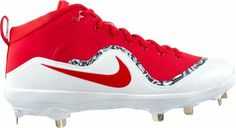 d69019cc1 Nike Baseball Cleats Metal - Force Air Trout 4 Pro - Red White Size 10.5
