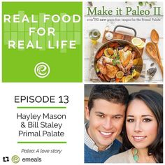 We were honored to be guests on the @emeals podcast this week. Perfect timing because when we recorded this a month ago I talked about something that we launched on our site today. You'll have to listen to the episode to find out () if you're impatient at least. We'll tell you about it later! # Also you can win a copy of #makeitpaleo2 and a 12 month eMeals subscription. Visit their IG post for entry details!