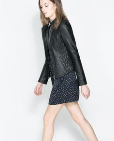 ZARA - WOMAN - QUILTED LEATHER JACKET