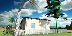 ´solith´ (low-cost) 41 m² with double pent roof Low Cost Housing, Architecture Visualization, Affordable Housing
