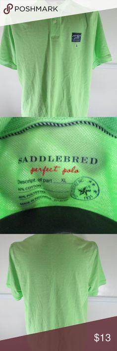 SADDLEBRED POLO SHIRT XL LUCKY GREEN SADDLEBRED POLO SHIRT XL LUCKY GREEN SADDLEBRED Shirts Polos