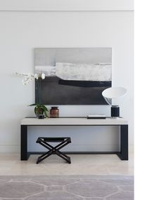 Photograph by Jason Busch, styled by Megan Morton / Room images.     The Design Files - quite possibly my favourite dose of daily design. I love the simple lines in this photgraph and the use of black and white.