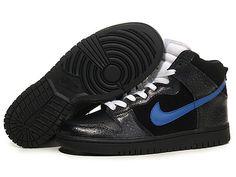 Nike Dunk High Black Varsity Royal White
