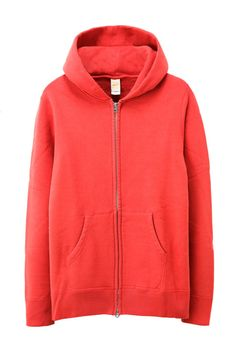 BARNS OUTFITTERS BR4931 LOOPWHEEL FLEECE LINING ZIP PARKA RED
