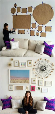 How To Create A Gallery Wall Of Photos On A Budget
