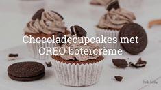 Chocolade cupcakes met oreo botercreme Brownies, Cupcakes, Desserts, Homemade Breads, Tailgate Desserts, Cupcake, Deserts, Dessert, Muffin
