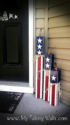 Cute for Fourth of July or even if you have an Americana home theme! Also will d… Cute for Fourth of July or even if you have an Americana home theme! Also will do the bottom part in a Chevron… Continue Reading → Fourth Of July Decor, 4th Of July Decorations, 4th Of July Party, July 4th, Outdoor Decorations, Diy Decoration, 4th Of July Wreaths, Memorial Day Decorations, Outdoor Crafts