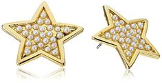 Yochi Pearl Cream Burst Star Earrings *** Learn more by visiting the image link.