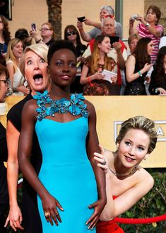 <b>Jennifer Lawrence, queen of photobombing, was snapped hiding behind a giant Oscar statue at this year's ceremony.</b> What else does the cheeky actress like to peek out from behind?