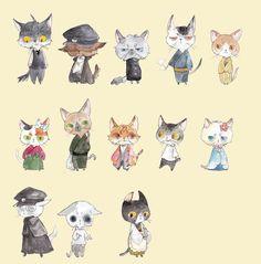 今天开始扮演一日侦探,How to Draw Critters and Creatures, Study Resources for Art Students , CAPI ::: Create Art Portfolio Ideas at milliande.com, Art School Portfolio Work , Critters, Creatures, Cartoon Animals, Cats, Foxes