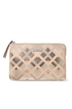 I adore this clutch! I'm all about the metallics and neutrals.
