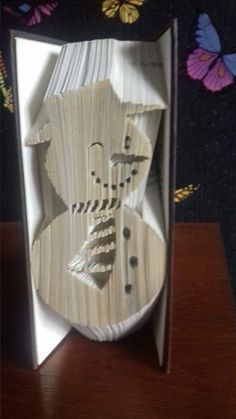 Snowman Cut & Fold/COMBI Book Folding Pattern (PATTERN ONLY) Christmas…