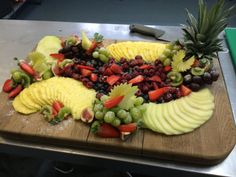 Head Chef Dave prepares the fruit board for breakfast