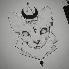 sigillum diaboli — In progress ^,^ Still quite a but to do on this… Cat tattoo – Fashion Tattoos Tattoo Sketches, Tattoo Drawings, Tattoo Chat, Victory Tattoo, Egyptian Cat Tattoos, Sphinx Cat, Cat Tattoo Designs, Graffiti, Cat Drawing