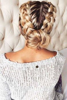 "New sweet back to school hairstyles for every day braided ponytail ., Easy hairstyles, "" New sweet back to school hairstyles for every day braided ponytail . - Frisuren Ideen 2019 - Source by Itsyda. Medium Hair Styles, Curly Hair Styles, Natural Hair Styles, Hair Medium, Braids For Medium Hair, Hair Styles For Long Hair For School, Hair Braiding Styles, Holiday Hairstyles, Trendy Hairstyles"