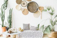 The 5 Biggest Summer Home Decor Trends, According To Experts urban trends home decor - Home Trends Bleu Pantone, Apartment Walls, Bohemian Mode, White Bohemian, Style Boho, Memphis Design, Boho Home, Minimal Home, Moda Boho