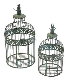 Look at this Chickadee Cabin Decorative Bird Cage Set on #zulily today!