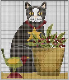 Christmas cat  at  gazette94 blog.  Lots of free charts