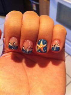 summer nails - love the starfish