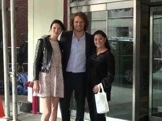 Caitriona Balfe, Sam Heughan & Diana Gabaldon at CBS Studios