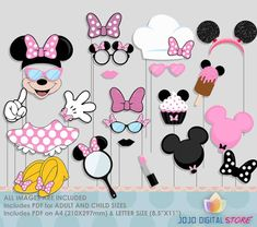 SALE Limited Time Pink Mouse Party Photo Booth by JoJoDigitalStore
