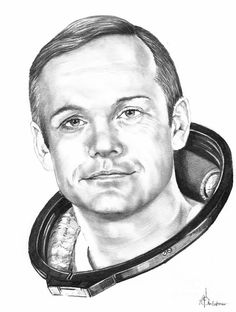 Neil Armstrong Drawing by: Murphy Elliott Plant City, Florida