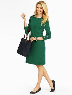 Talbots - Striped Envelope-Shoulders Shift | Dresses | Petites
