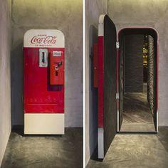 A Bar Hidden Behind An Old Coca-Cola Machine In Shanghai