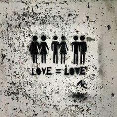 #Love=Love, #holebi, #LGBT, Louvain-la-Neuve, #Belgium, Feb. 2013, #streetart, #urbanartLLN, #OLLN, #photooftheday #pictureoftheday #picoftheday #bestoftheday #dailypic #instadaily #instgram #insta #instapic #instagood #instagreat #travelingram #master_pics #followme #canon #eos #android