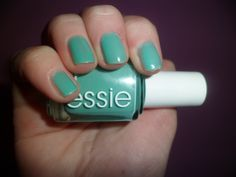 Essie turquiose and caicos-new color! Makes me think of the beach!