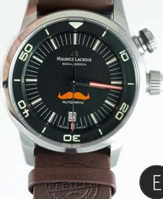 Maurice Lacroix Pontos S Diver - Movember limited edition watches. For the second consecutive year Maurice Lacroix supports the charity, Movember. Launching an innovative competition and creating some limited edition models for a worthy cause. In 2003, a group of friends in a public house in Melbourne, Australia, conceived the idea of Movember. The concept was simple, creating a campaign to heighten the awareness of men's health by growing a moustache during the month of November. Each year…
