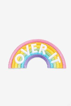 These Are Things Over It Rainbow Patch - Accessories   Pins + Patches