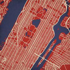 Upper Manhattan New York Print now featured on Fab.