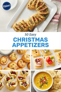 The BIG List of Easy Christmas Appetizers You'll never run out of festive appetizer ideas again! From crescent candy canes to cheesy, comfy dips, there's an app for every family member, friend and partygoer on your nice list this year. Holiday Snacks, Christmas Party Food, Holiday Appetizers, Christmas Cooking, Holiday Recipes, Christmas Treats, Holiday Dinner, Christmas Apps, Christmas Recipes