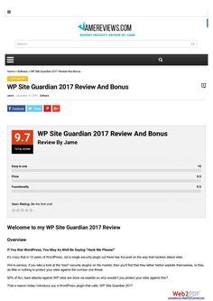 WP Site Guardian 2017 Review And Bonus