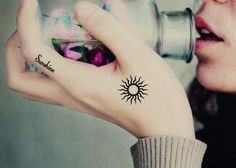 Sunshine Temporary Tattoo from cyfashionc.com. Saved to Epic Wishlist. #ilovesmalltattoos #sunshine #want #follow.