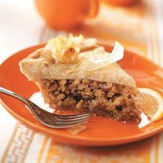 Greek Honey Nut Pie