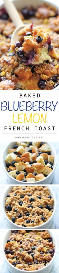 Baked Blueberry Lemon French Toast - Amazingly sweet and scrumptious make-ahead french toast using a secret ingredient – sweet and fluffy Hawaiian bread!