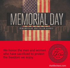 The Life Chest team honors those courageous men and women who have served and given their lives for the causes of freedom, liberty, and peace. #LifeChest #FallenHeroes #Soldiers #NeverForget #USHeroes #MemorialDayWeekend #Memories #Military