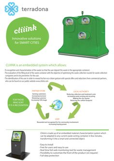 Recycling your rubbish with our intelligent system  www.cliiink.com Intelligent Systems, Collection Company, Smart City, Nintendo Wii Controller, Solution, Innovation, Recycling, Box, Reward System