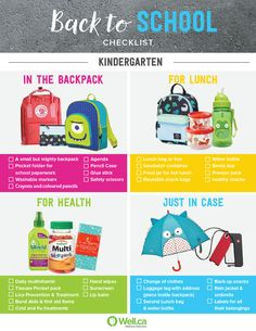 Everything your kindergartener will need for back to school this fall!