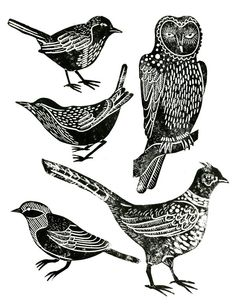 Lino Prints - Hazel Partridge Illustration