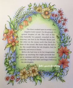 Ivy and the inky butterfly by Johanna Basford | julie's passion for coloring
