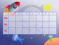 Space Theme Sticker Reward Charts Printables- 3 charts with stages for potty training & 3 blank charts to set your goals! Instant Download