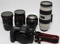 Must have: Canon EF 16-35mm f/2.8 L II USM Canon EF 24-70mm f/2.8 L USM Canon EF 70-200mm f/2.8 L IS USM Canon EF 50mm f/1.4 USM Canon EF 85mm f/1.2 L II USM