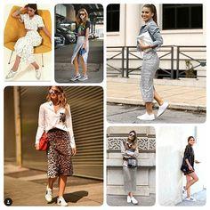 Inspirações com as blogueiras mais visadas no mundo da moda. Com looks sofisticados + tênis.  E, isso pode?  Podeee! 💥💥💥 #trend . . . . #inspiracao #blogueira #fashionista #amazing #look #detalhesperfeito #fashion #moda #inlove #tendencia #instafashion #trendmood #loveit #beautiful #estilosa #modafeminina #modaeestilo #girl #mulhermoderna #chic #moderna #tenis #cool #amoisto #modaparameninas #luxo #looktendencia #blogger